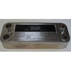 Теплообменник ГВС вторичный пластинчатый 12 пл. Beretta Super Exclusive, CITY, Mynute, Idra Exclusive 24 kw. Art. R8036